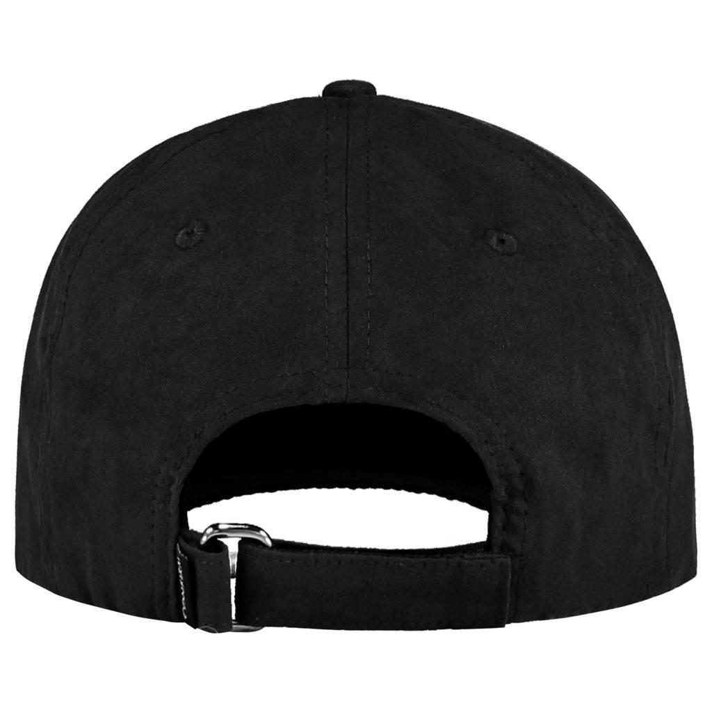 CONFIRM BRAND SUEDE LOOK CAP - BLACK-3
