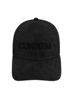 Confirm Brand Suede Cap Black
