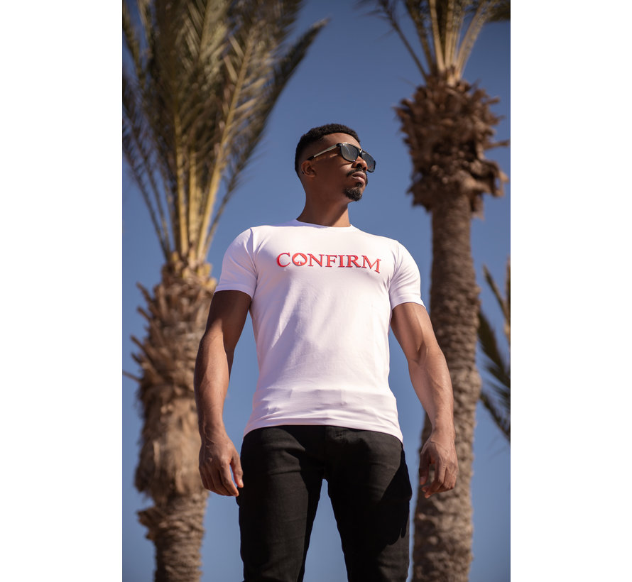 Confirm Brand T-shirt 3D - Wit/Rood