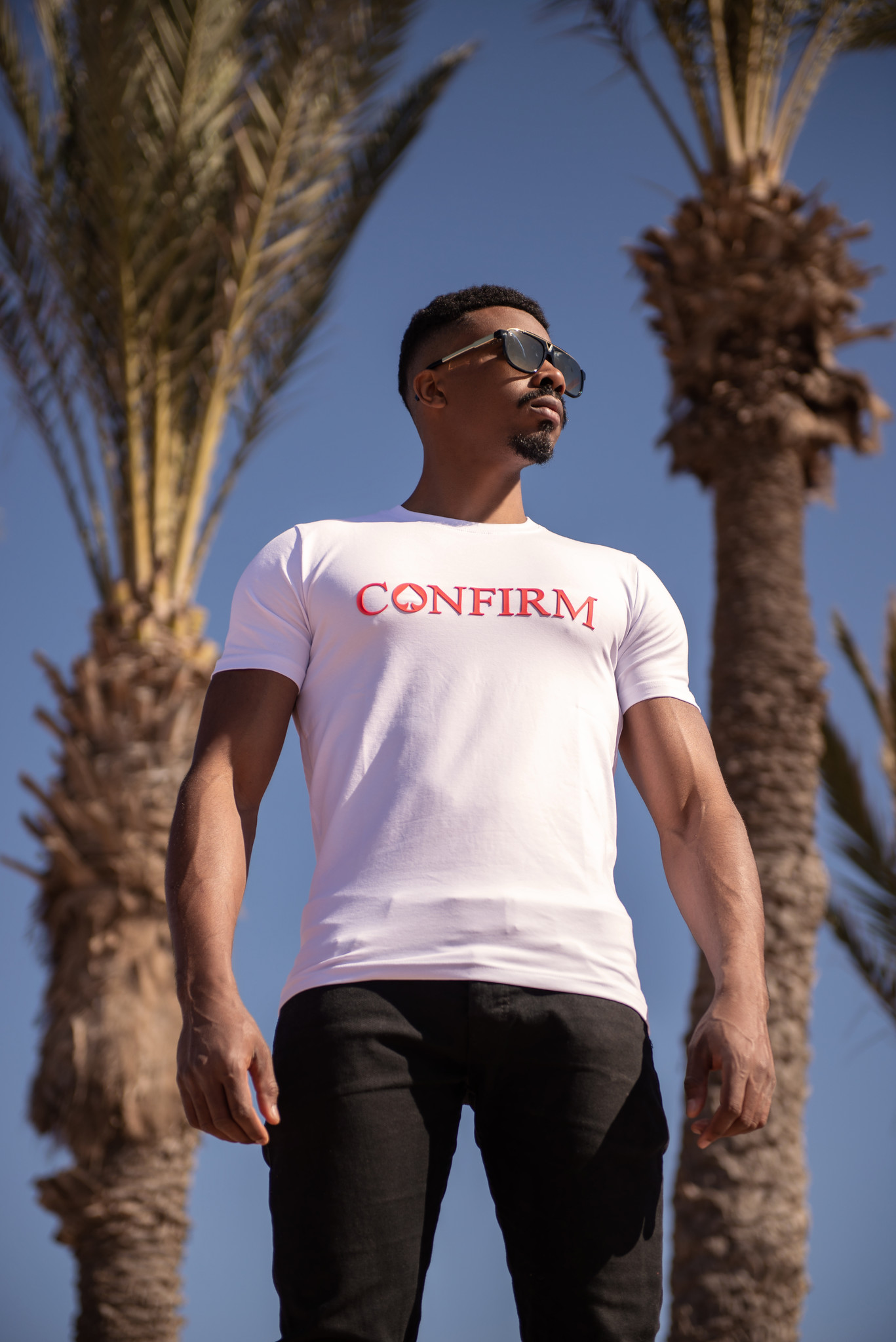 Confirm Brand T-shirt 3D - White/Red-5