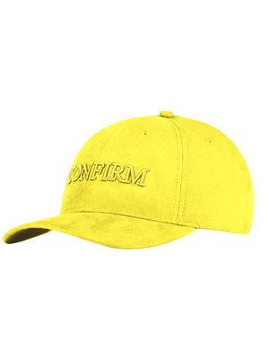 Brand suede look cap - yellow
