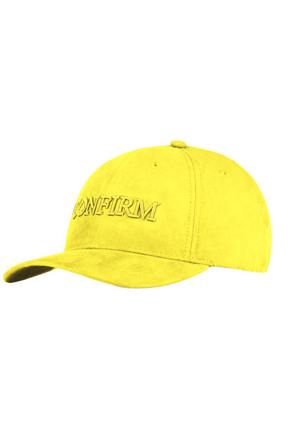 Brand suede look cap - geel