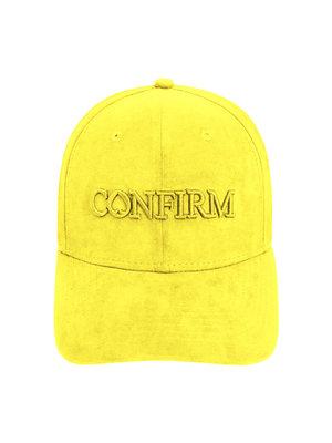 Confirm brand suede look cap - yellow