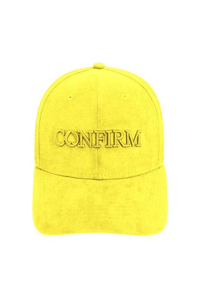 Brand Suede Cap -  Geel