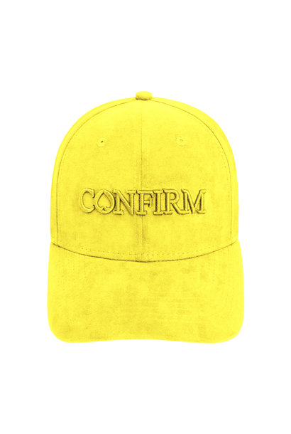 Brand Suede Cap -  Yellow