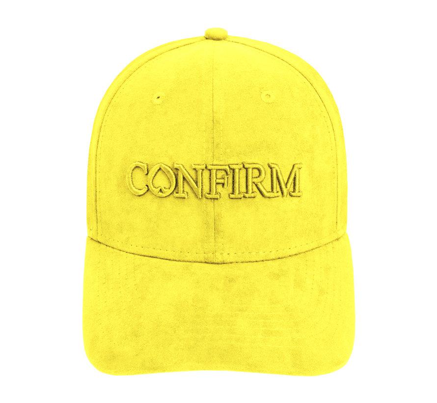 Confirm Brand Suede Cap Geel