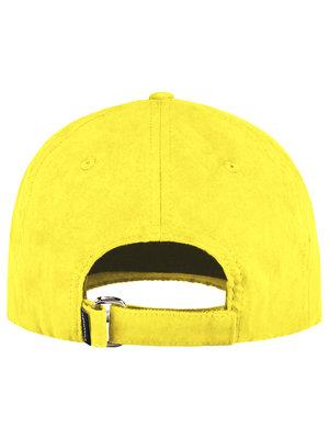 Confirm brand suede look cap - geel
