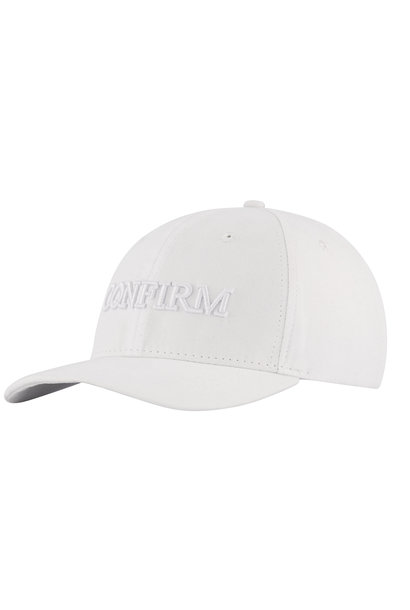 BRAND SUEDE LOOK CAP - WHITE