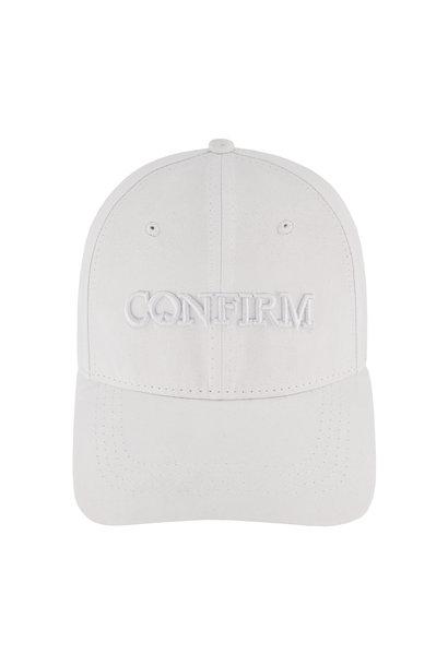 Brand Suede Cap  -  White