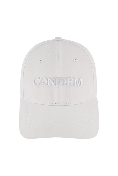BRAND SUEDE LOOK CAP- WIT