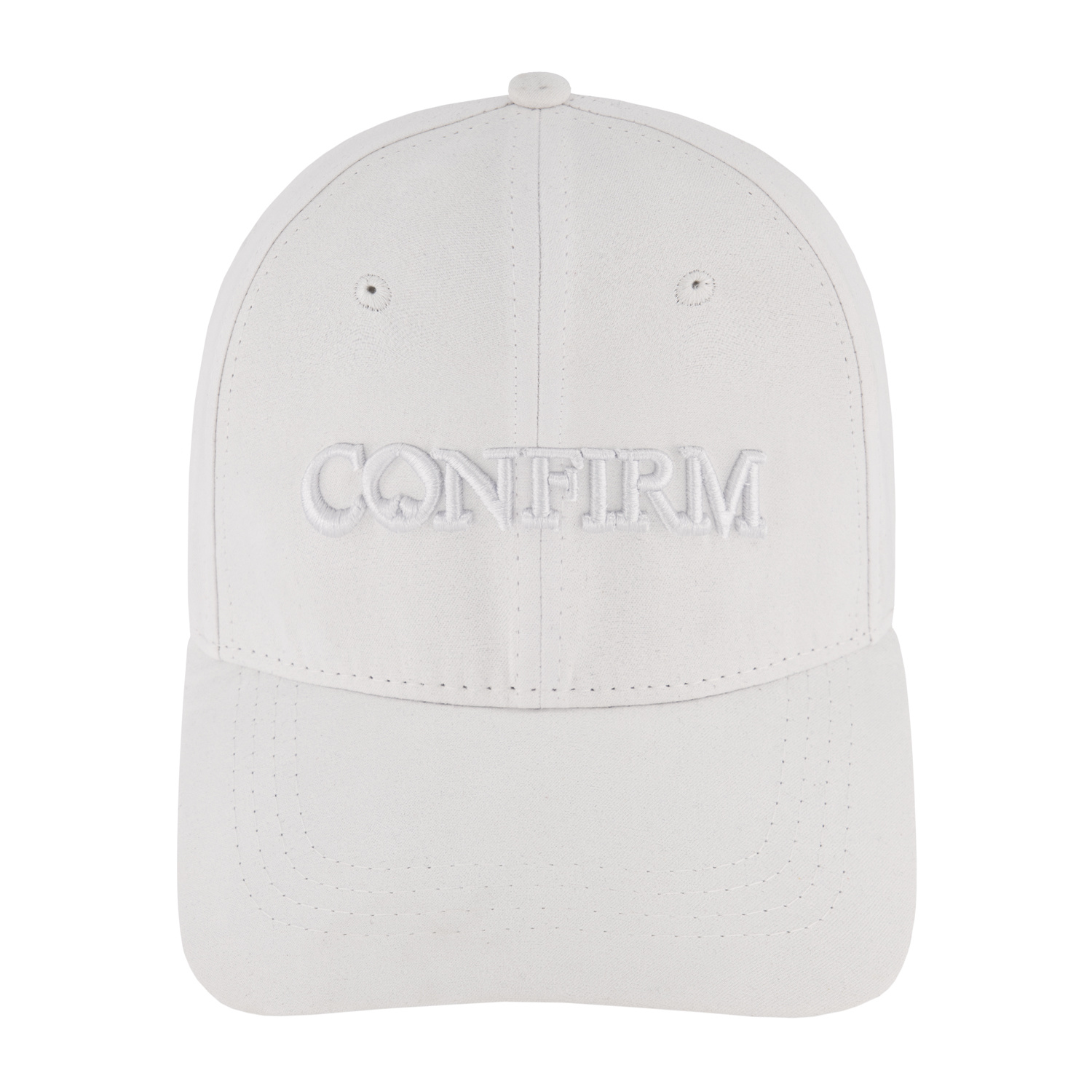 Confirm Brand Suede Cap  Wit-2