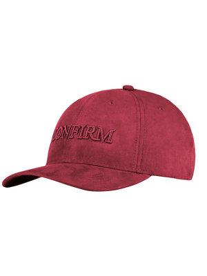 Confirm brand suede look cap - Bordeaux