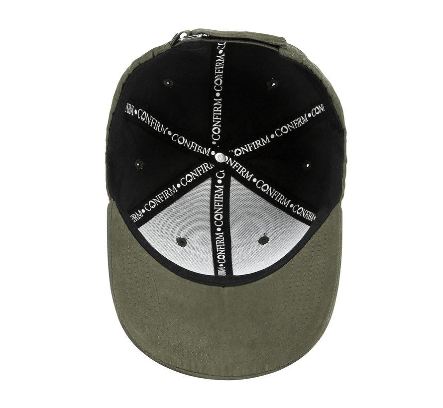 Confirm Brand Suede Cap Army