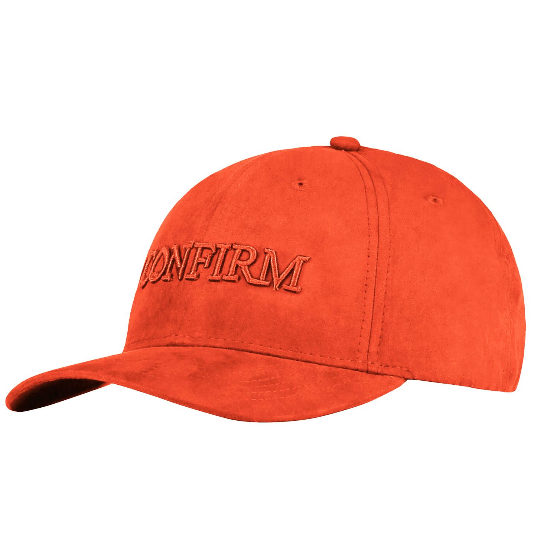 Confirm Brand Suede Cap Orange-1