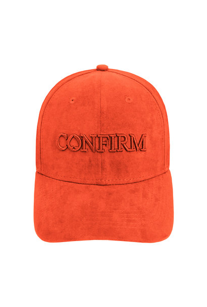 Brand Suede Cap - Orange