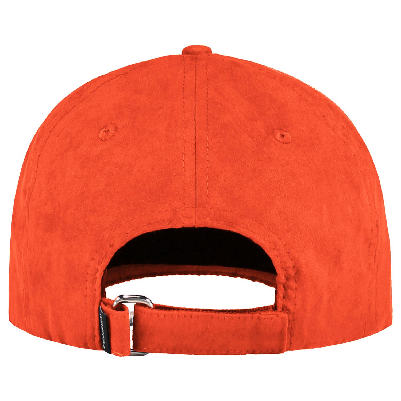 BRAND SUEDE LOOK CAP - ORANGE-3