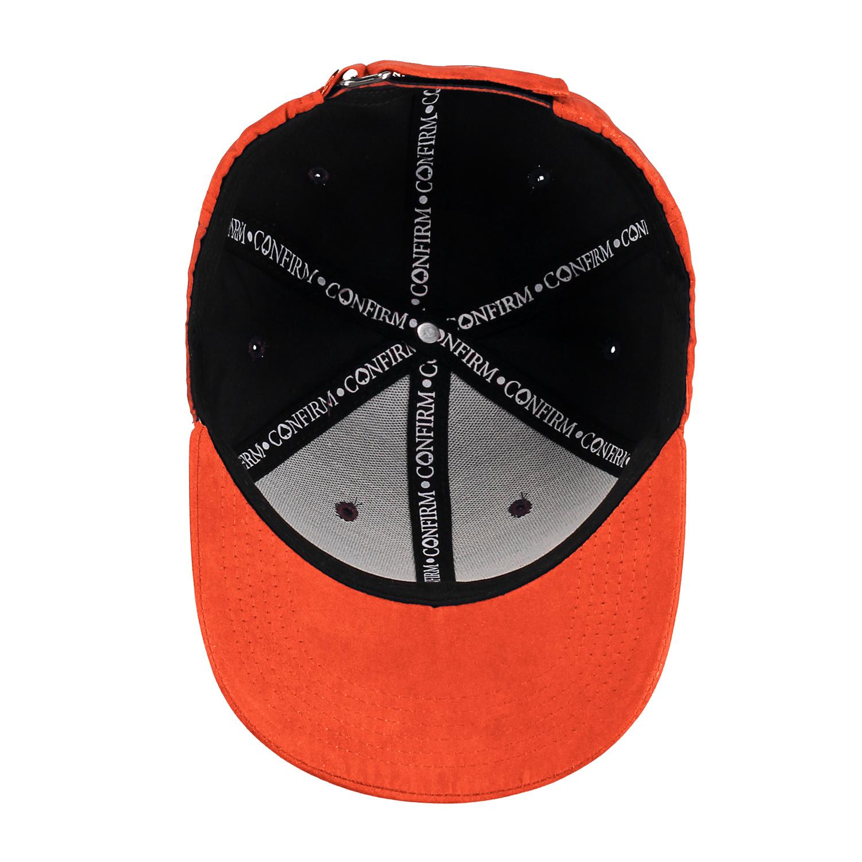 BRAND SUEDE LOOK CAP - ORANGE-4