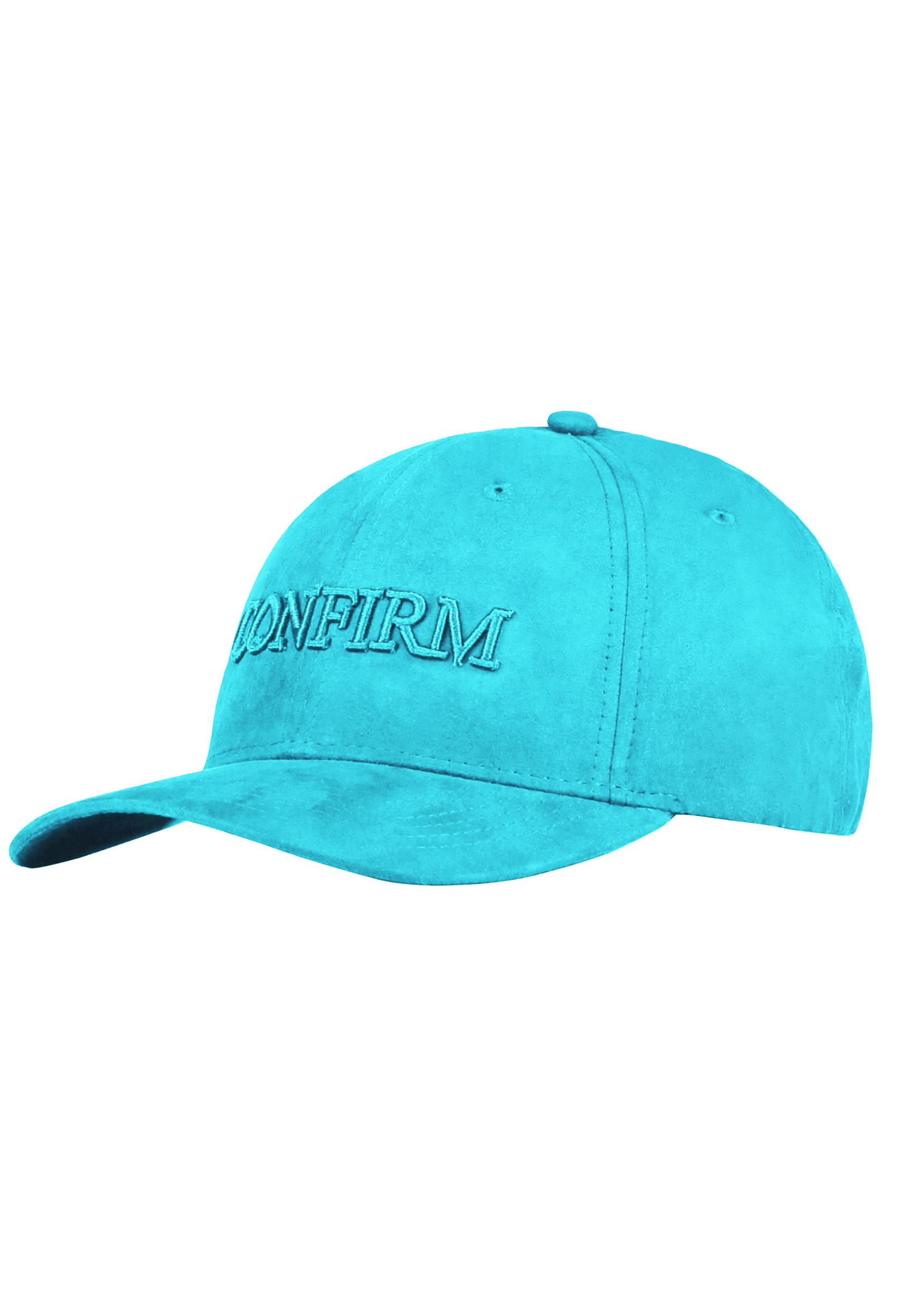 Confirm brand suede look cap - aqua