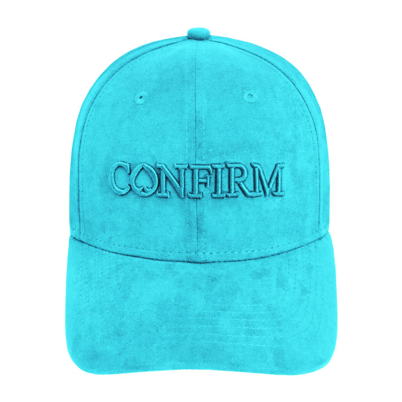 Confirm Brand Suede Cap Aqua-2