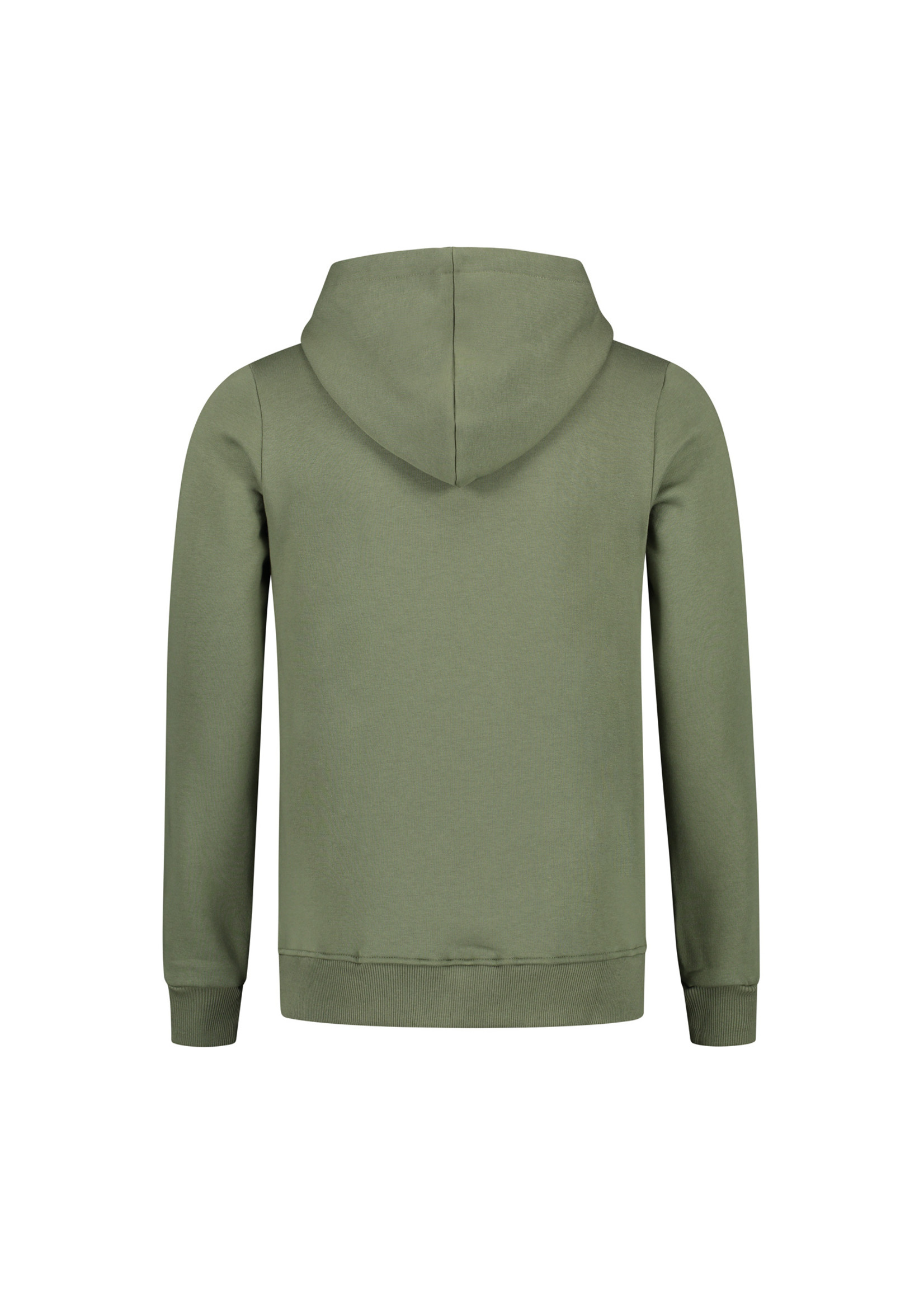 Confirm brand zipped hoodie - army