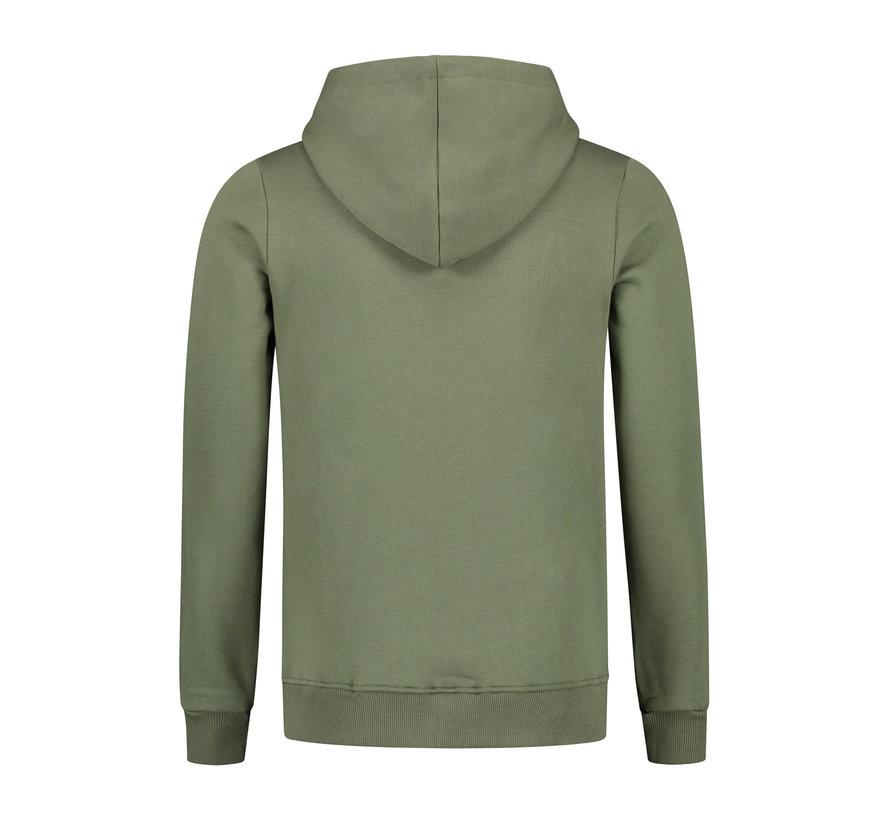 Confirm Brand Hoodie Vest - Army