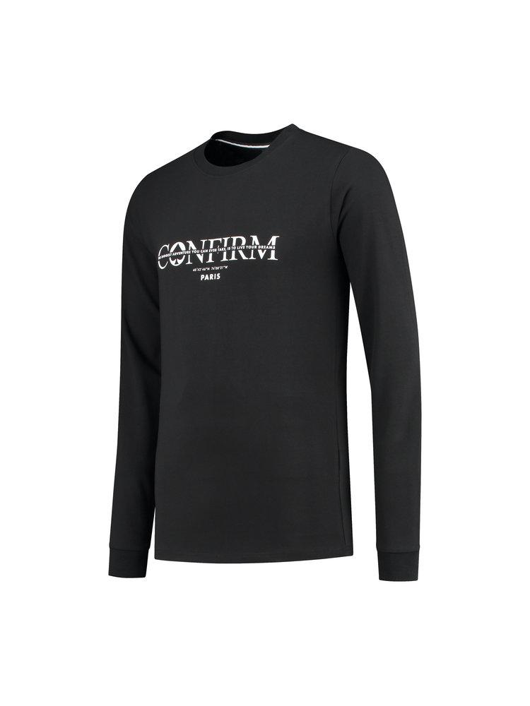 Confirm | Brand T-shirt LS  Adventure - black