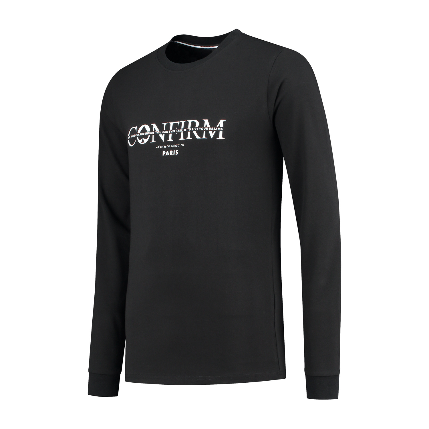 Confirm Brand T-shirt   Adventure Long Sleeve -  Black-2
