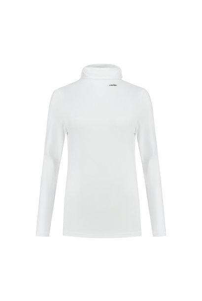 Dames Basic Turtleneck Confirm - White