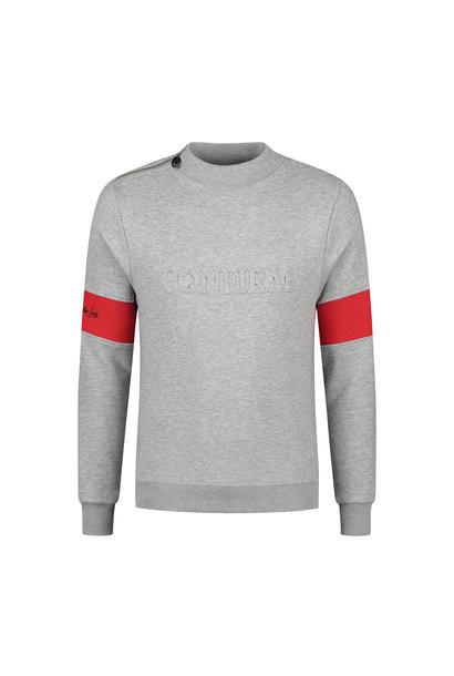 """Brand Zip Sweater """"Blind for Love"""" Grijs"""
