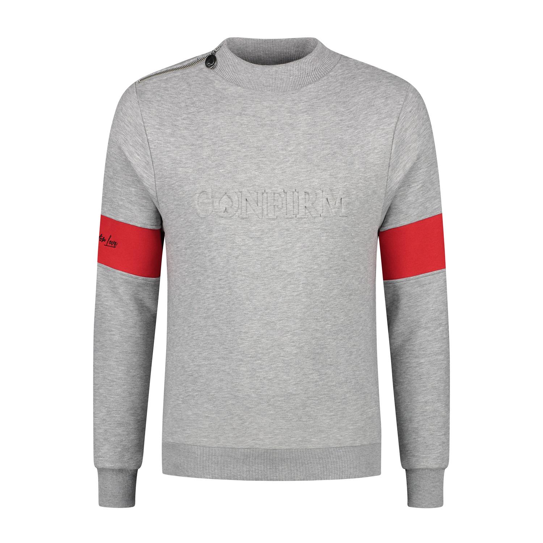 Confirm | Brand Zip Sweater Blind for Love - Grijs-1