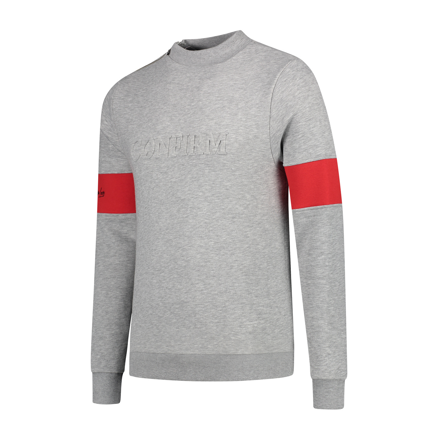 Confirm | Brand Zip Sweater Blind for Love - Grey-2