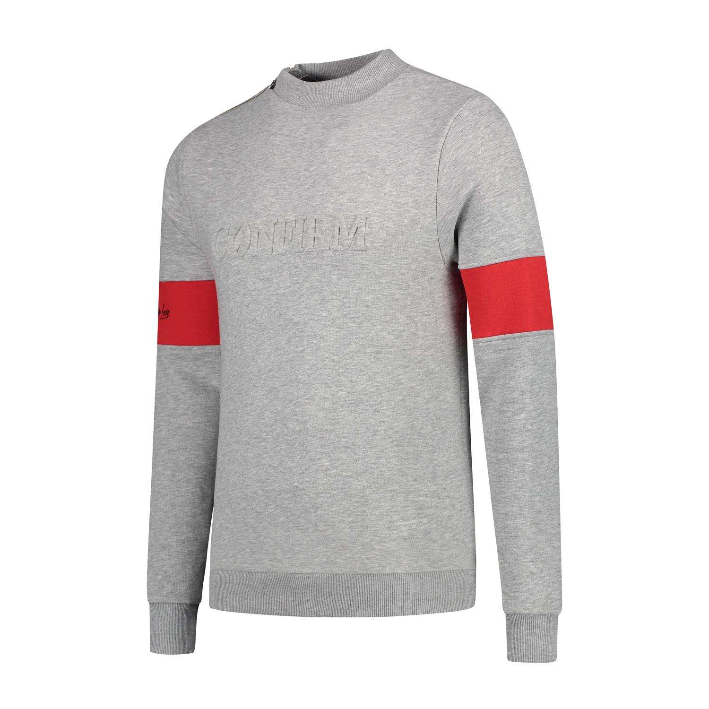 Confirm | Brand Zip Sweater Blind for Love - Grijs-2