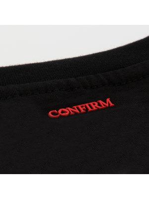 Confirm T-shirt Confirm your life - zwart