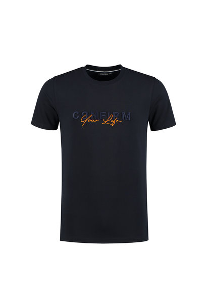 T-shirt Confirm your life - navy