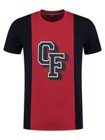 T-shirt baseball CF - rood/navy