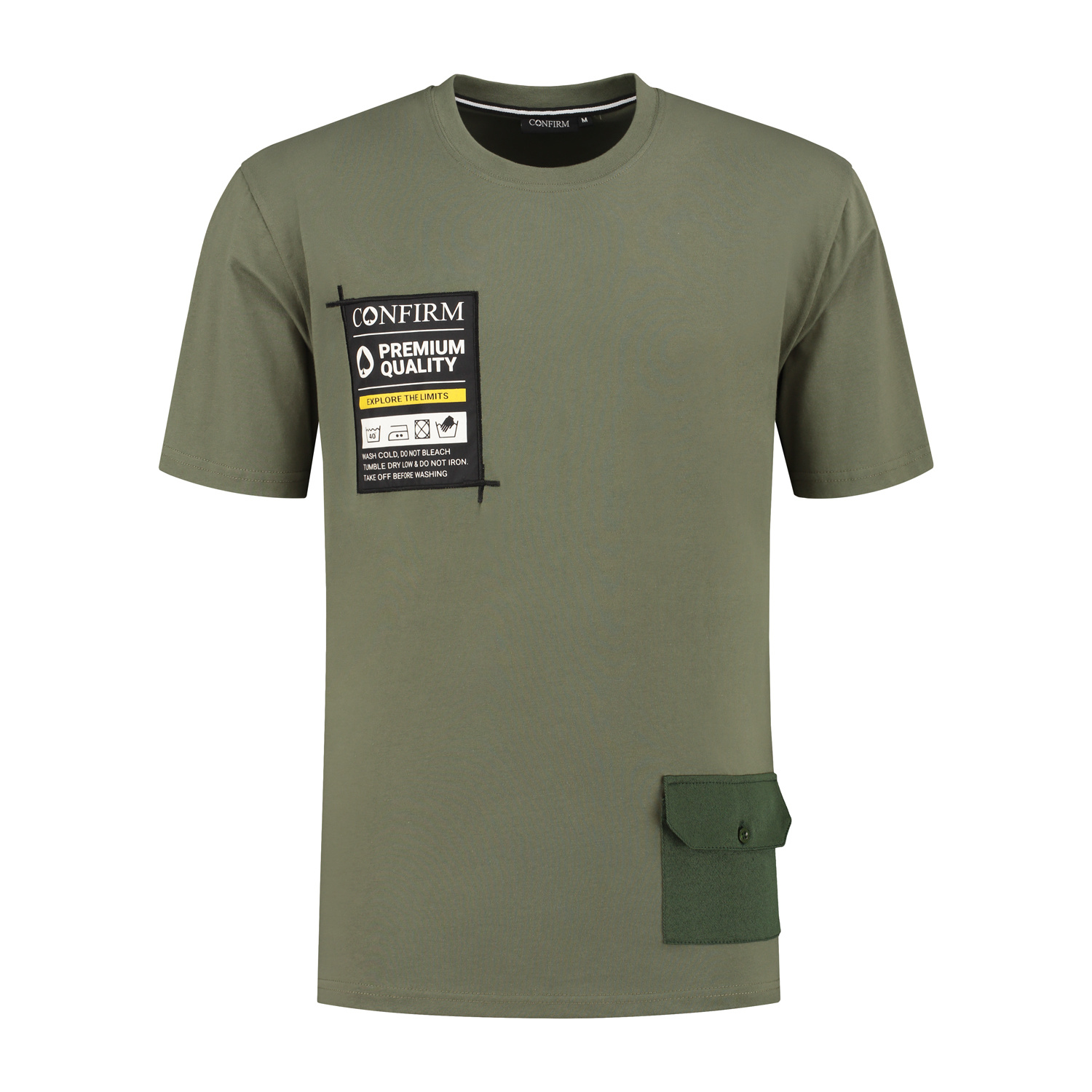 T-SHIRT POCKETLABEL - ARMY-1