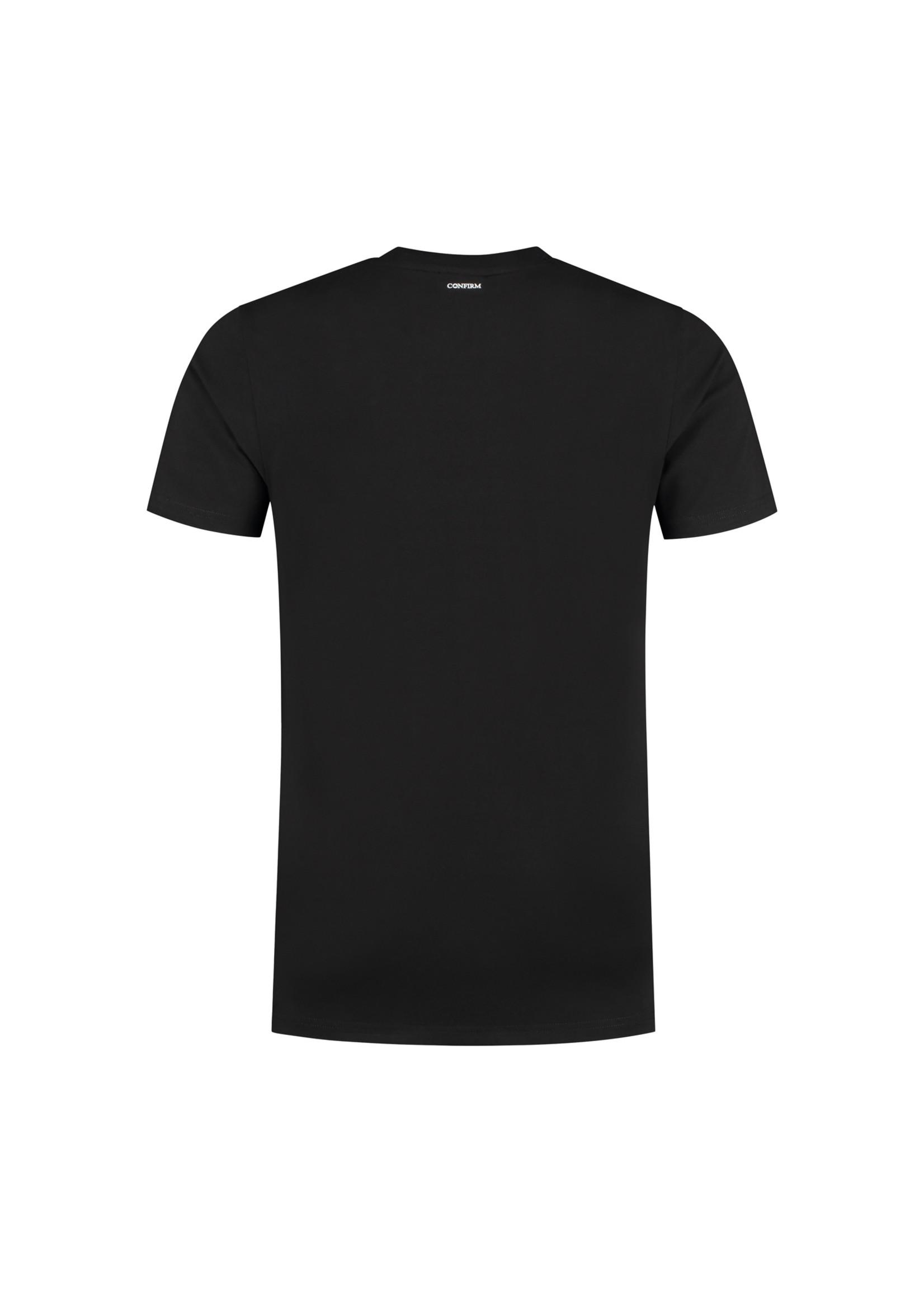 Confirm basic T-shirt patch - black