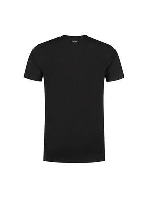 Confirm basic T-shirt patch - zwart/rood