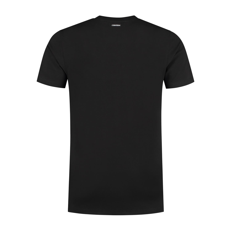 Confirm basic T-shirt patch - zwart/rood-2