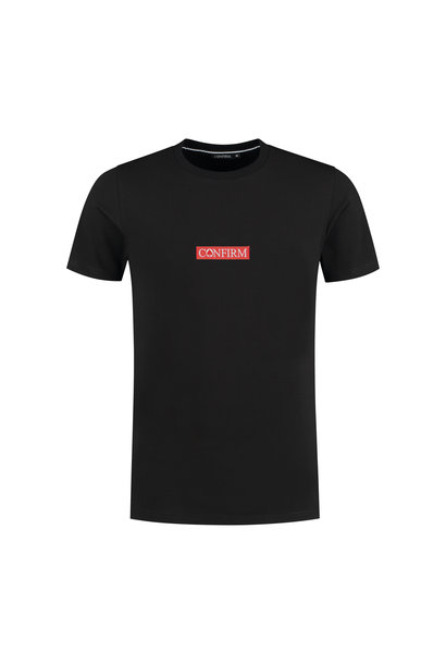 T-SHIRT BASIC PATCH - BLACK/RED