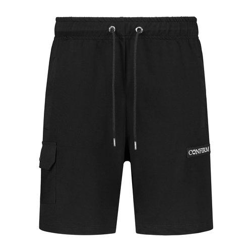 Korte broek met zak - zwart