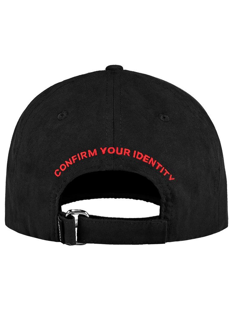 Confirm your life suede look pet - zwart/rood