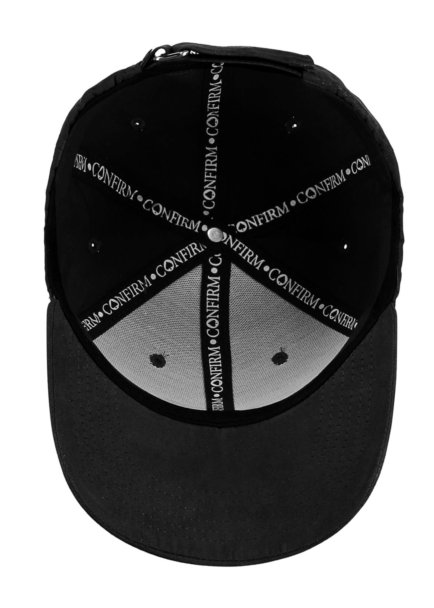 Confirm brand suede look pet - zwart/wit