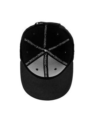 Confirm brand suède look cap - black/white