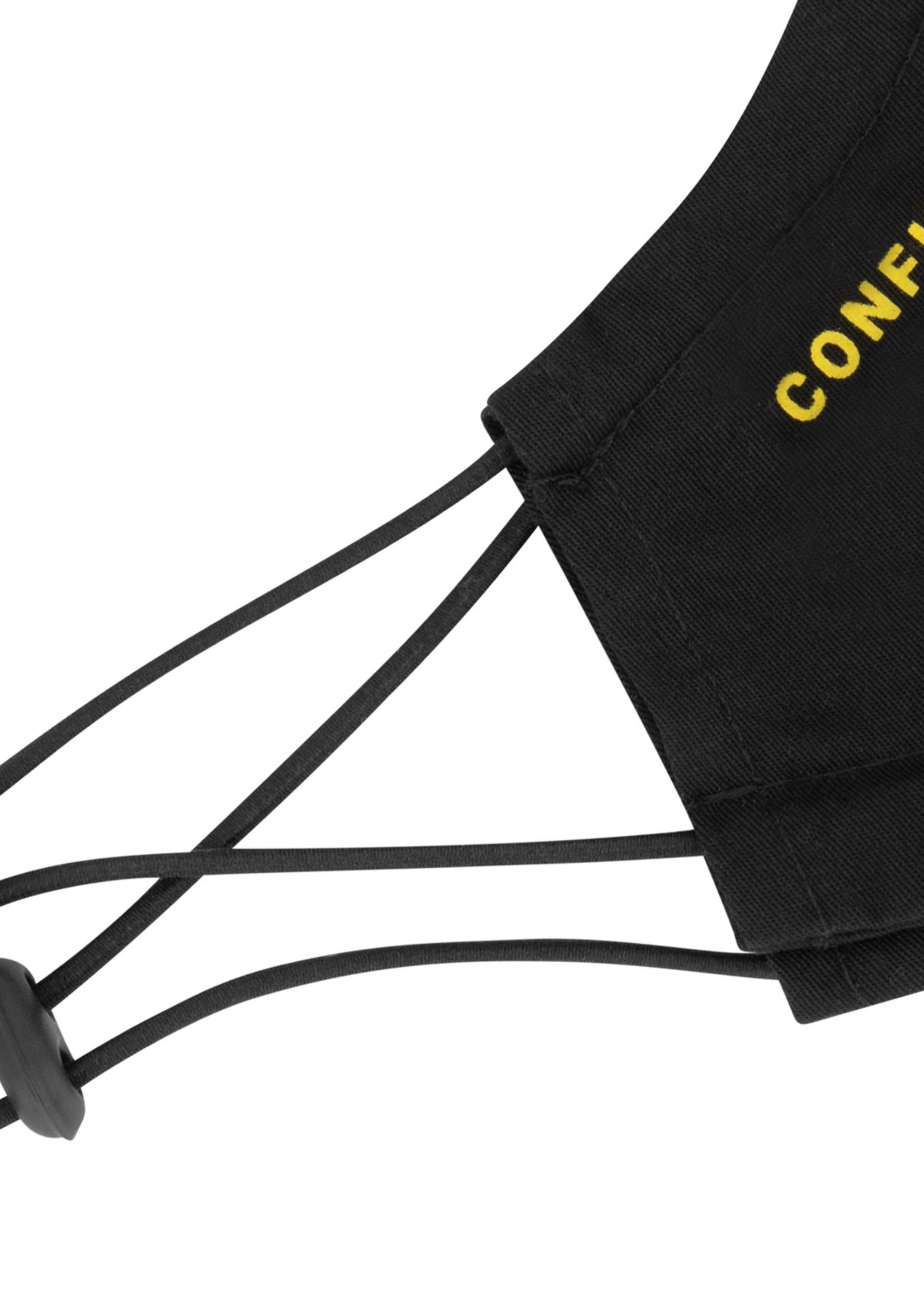 Confirm mondkapje set van 2 - zwart/geel
