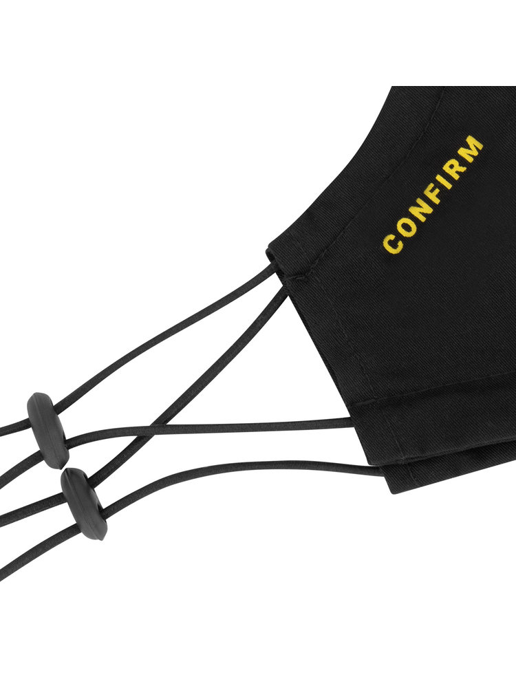 Confirm mask 2-pack - black/yellow