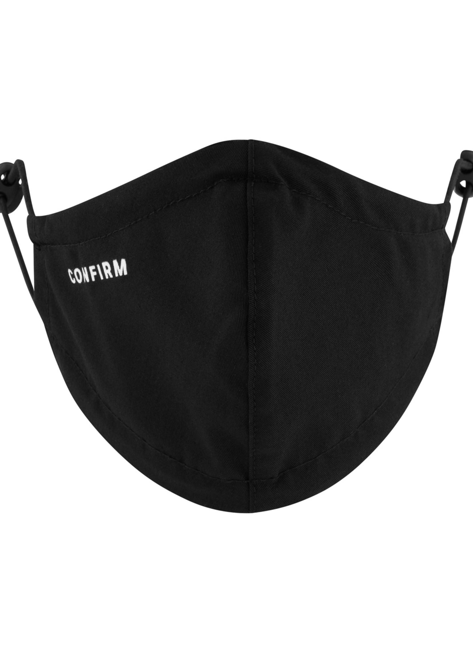 Confirm mondmasker set van 2 - zwart/wit