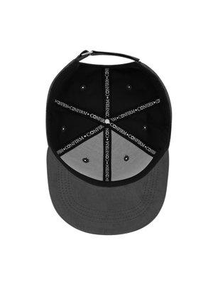 Confirm brand suede look cap - dark grey