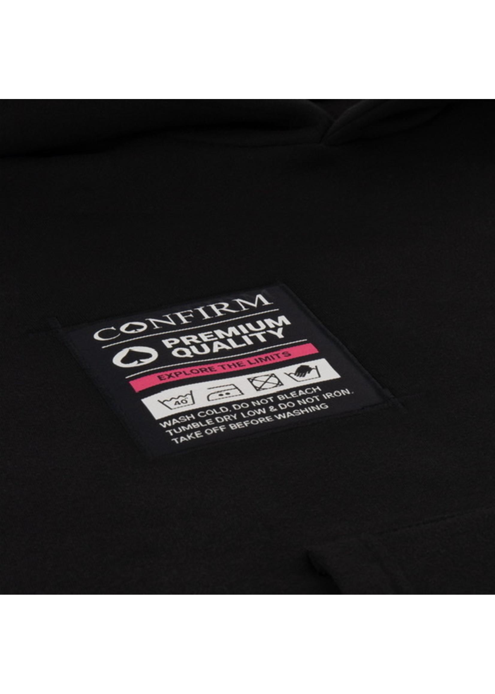 Confirm hoodie Pocketlabel - zwart/roze