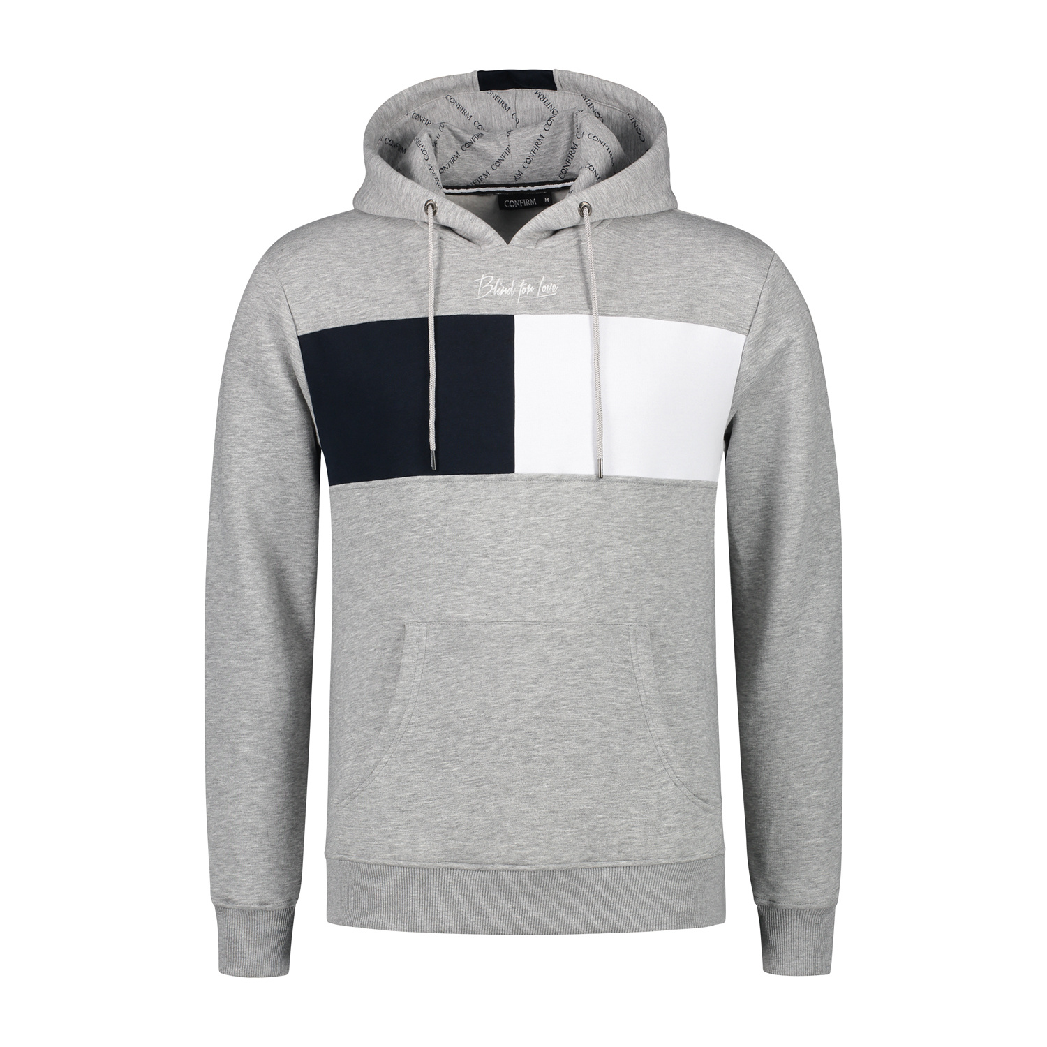 Confirm hoodie blind for love - grey-1